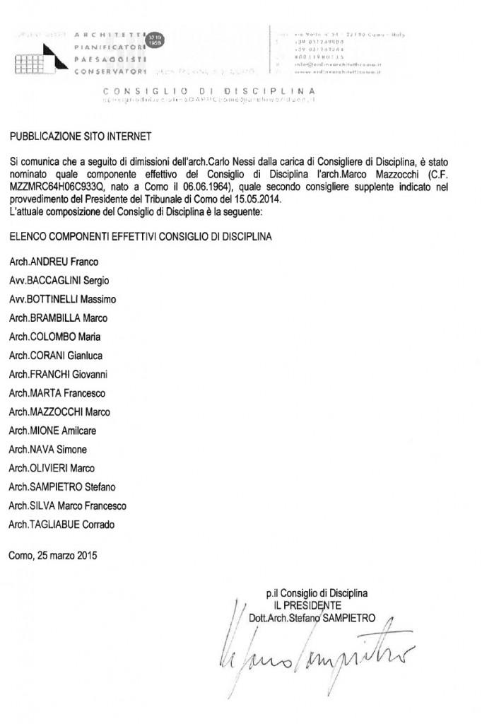 CdD dimissioni Nessi