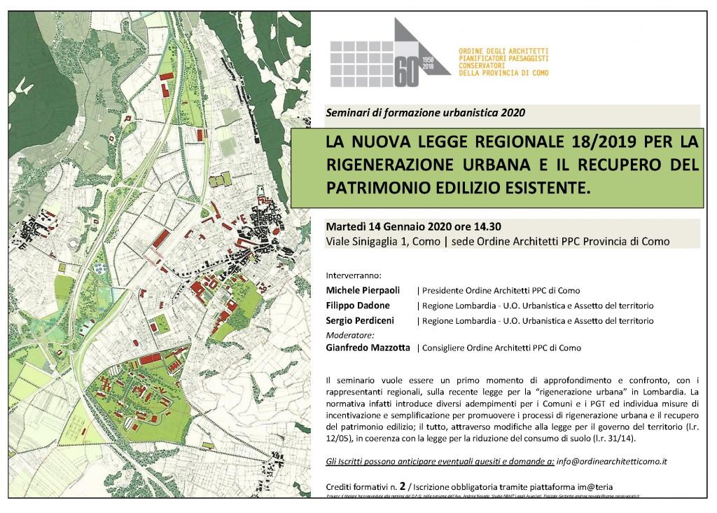 1_ORDINE ARCHITETTI COMO_Seminario LR 18 RIGENERAZIONE URBANISTICA_14.1.2020