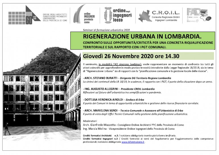 OAPPC_OIPC_INVITO SEMINARIO RIGENERAZIONE URBANA IN LOMBARDIA_WEBINAR_26.11.20