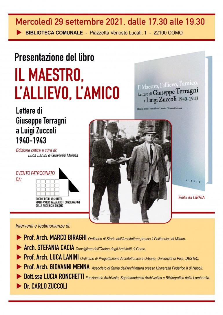 Locandina libro Terragni Zuccoli 29 set 2021